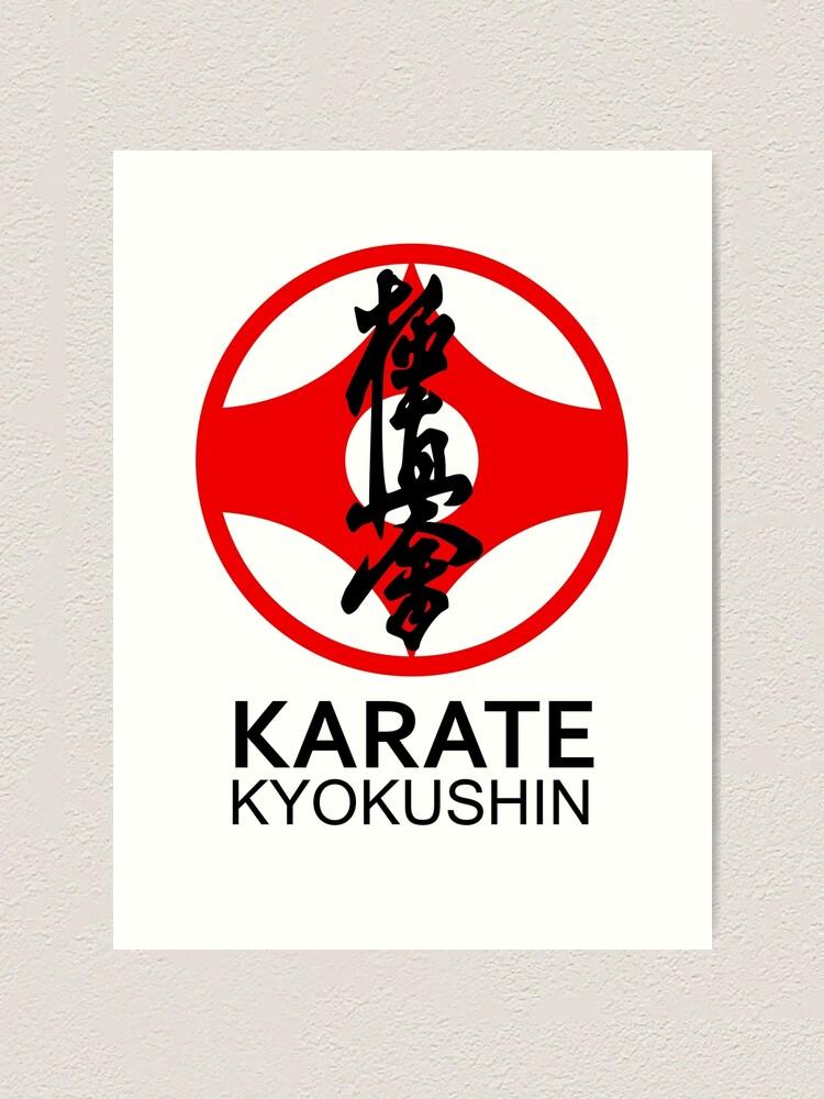 Karate Symbol : karate, symbol, Kyokushin, Karate, Kanji, Symbol, Print, DCornel, Redbubble