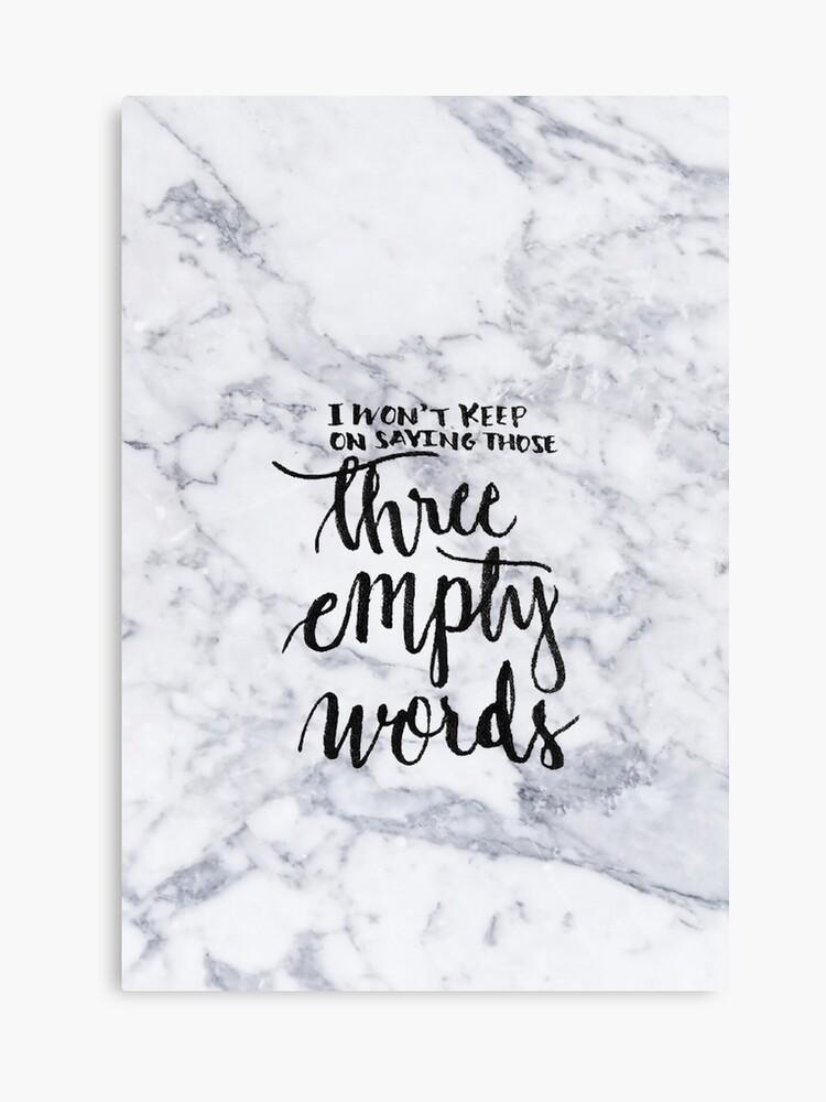 three empty words shawn