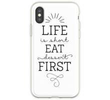 « La vie est courte commence par le dessert! Calligraphie