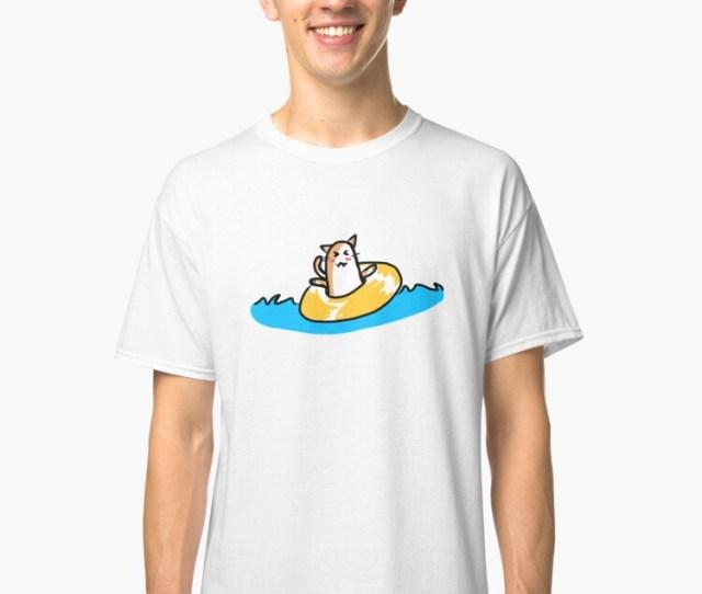 Inner Tube Kitty Classic T Shirt Front