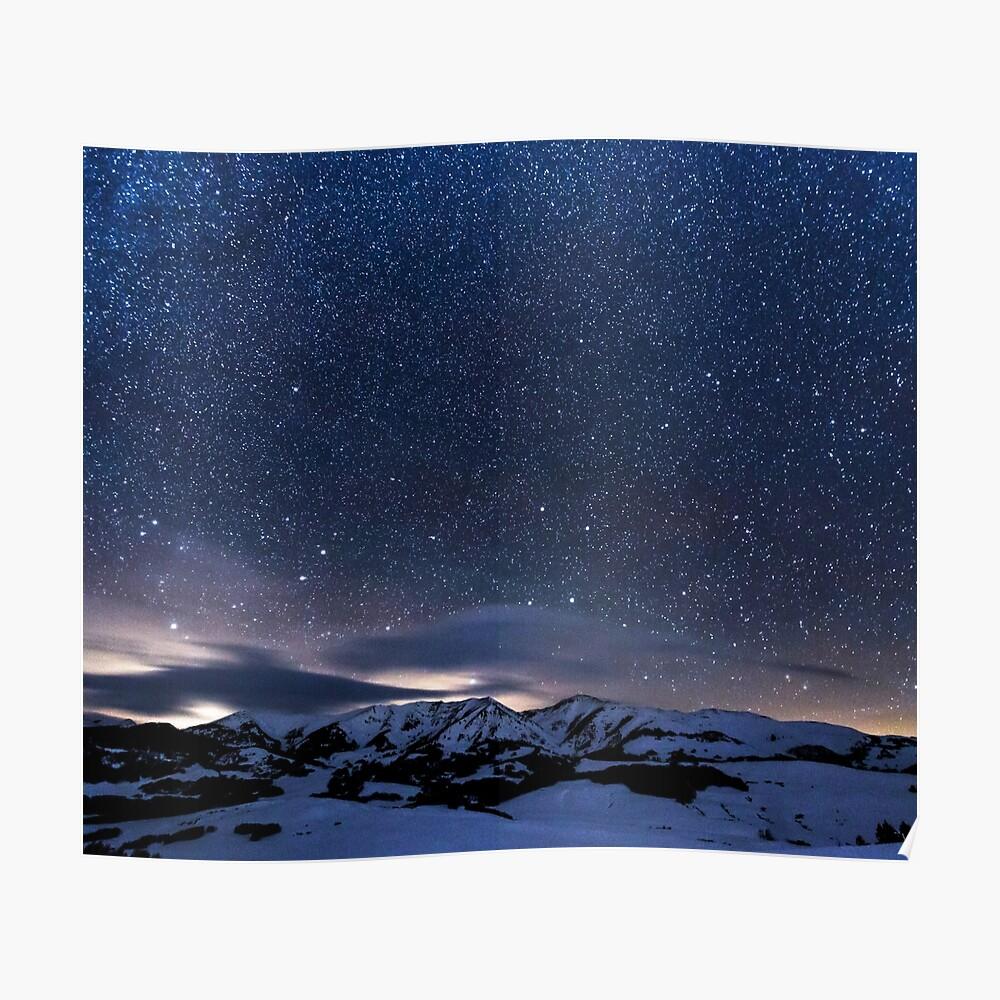 tentures ciel etoile ciel hiver montagne par cadinera redbubble