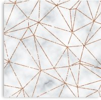 """""""Marble Geometric Rose Gold Design"""" Canvas Prints by ..."""