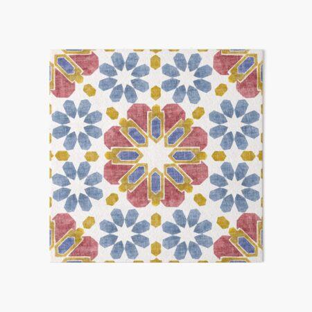moroccan tile pond art board print by crumpsticks redbubble