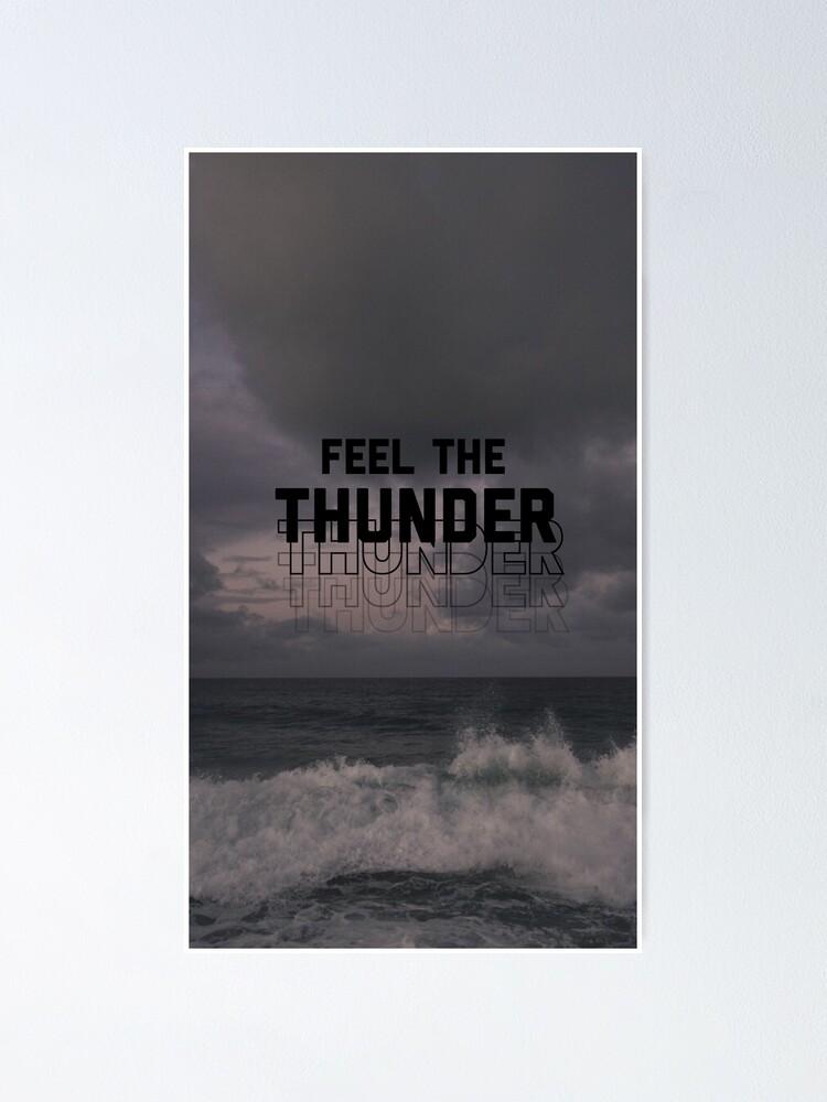 imagine dragons thunder poster by lockscreensget redbubble