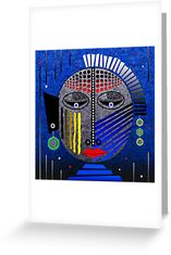 'Tribal Whimsy 12' Greeting Card products by renowned vagabond fine art travel photographer, Glen Allison