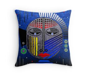 'Tribal Whimsy 12' Throw Pillow by Glen Allison