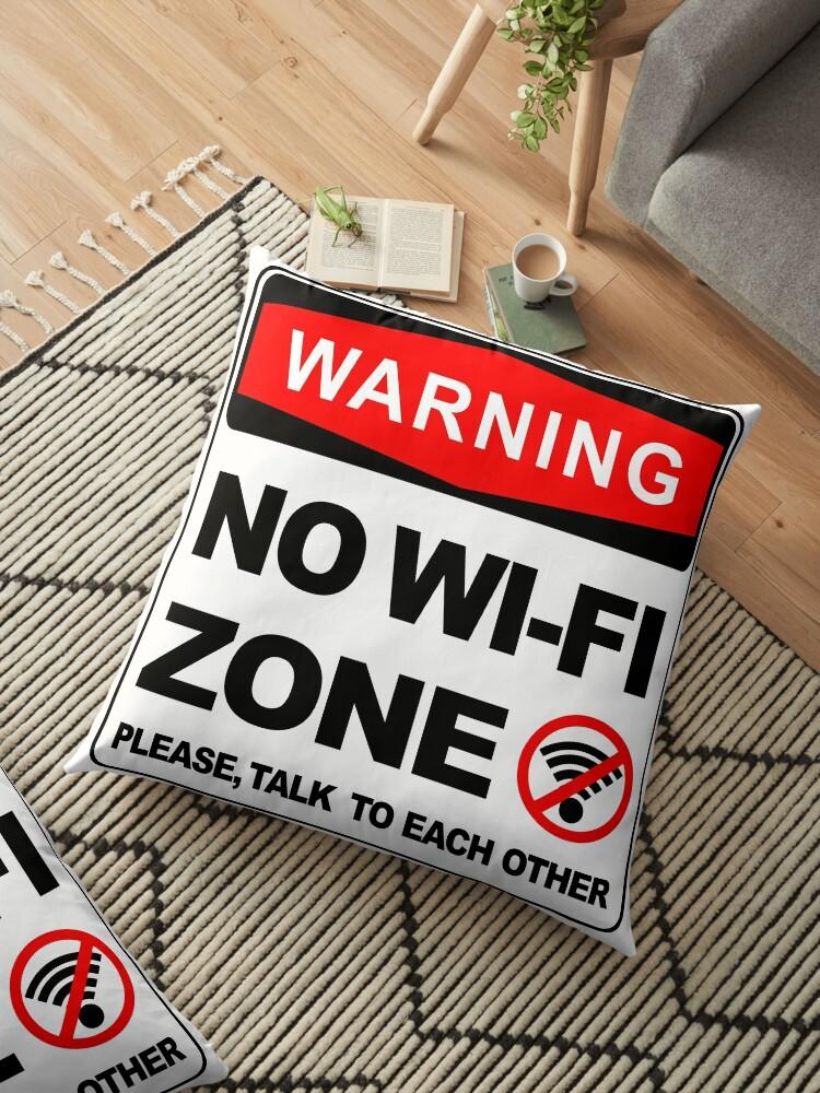 warning sign no wifi