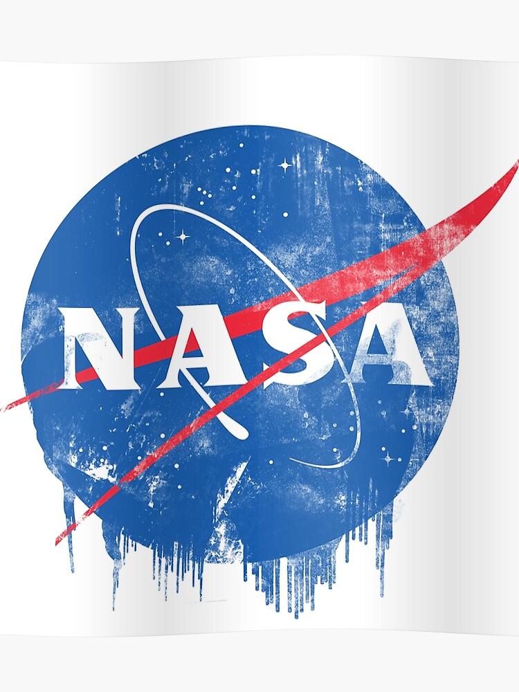 grunge nasa logo poster