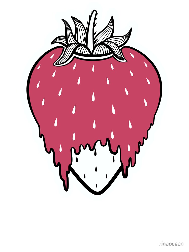 Strawberry Drawing Cute : strawberry, drawing, Strawberry, Cartoon, Drawing