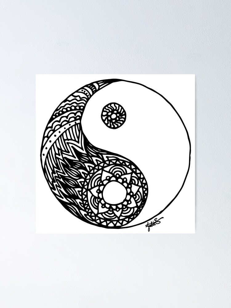 tangled yin yang poster by julieerindesign redbubble