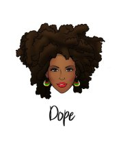 """""""dope natural hair woman"""" posters"""