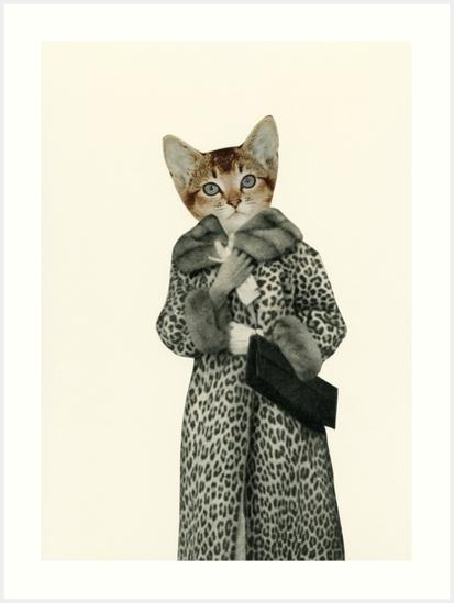 Kitten Dressed as Cat Art Print by Cassia  Redbubble