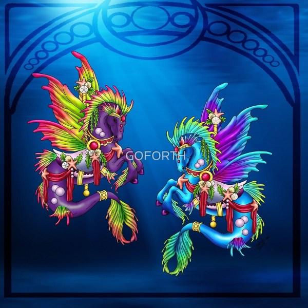 """fairytale Carousel Lotus & Sea Dream"" Goforth Redbubble"