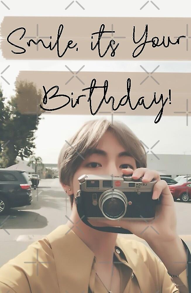 """Taehyung Birthday Card"" By Baekgie29 Redbubble"