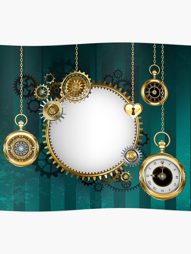 round mechanical banner on