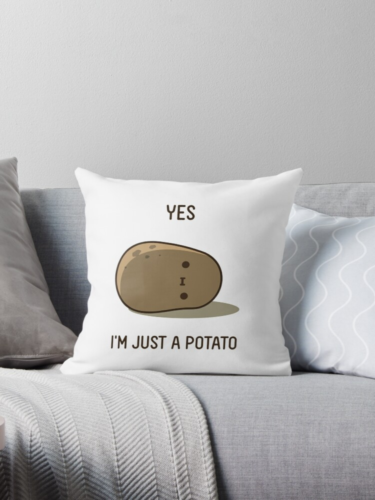 Cute Potato Throw Pillow by clgtart  Redbubble