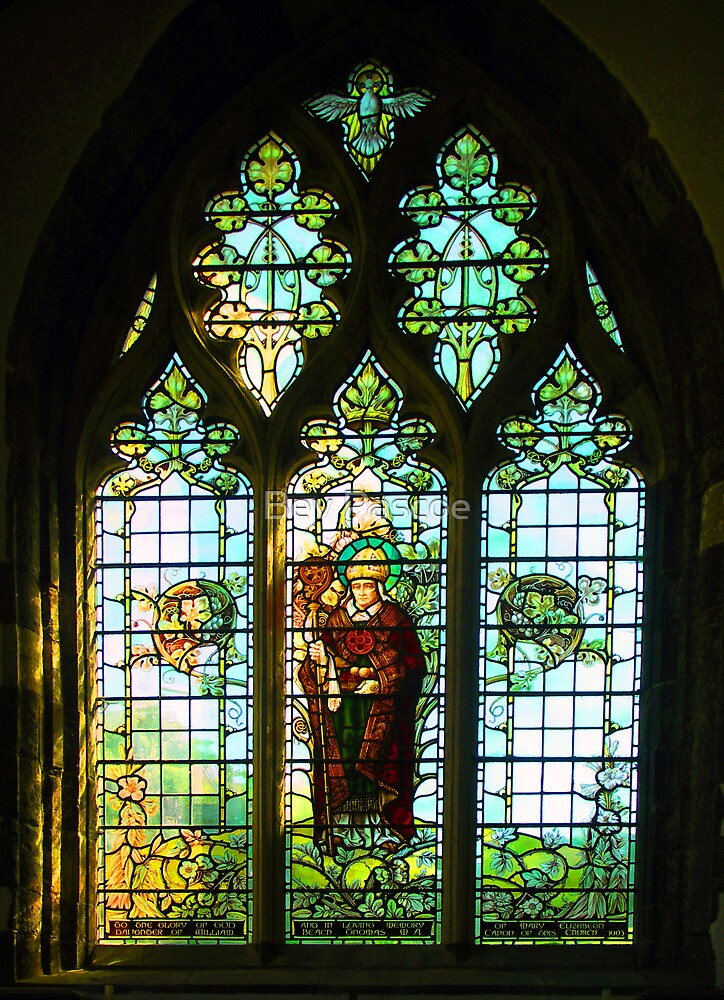 St Davids Cathedral Pembrokeshire Wales  Stained Glass