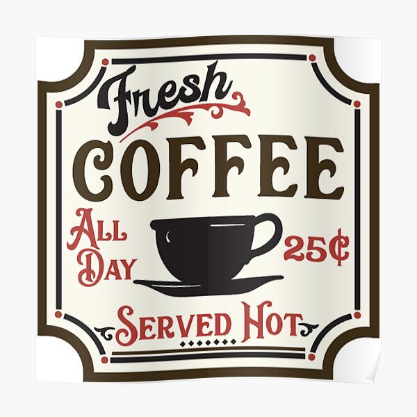 vintage coffee shop posters redbubble