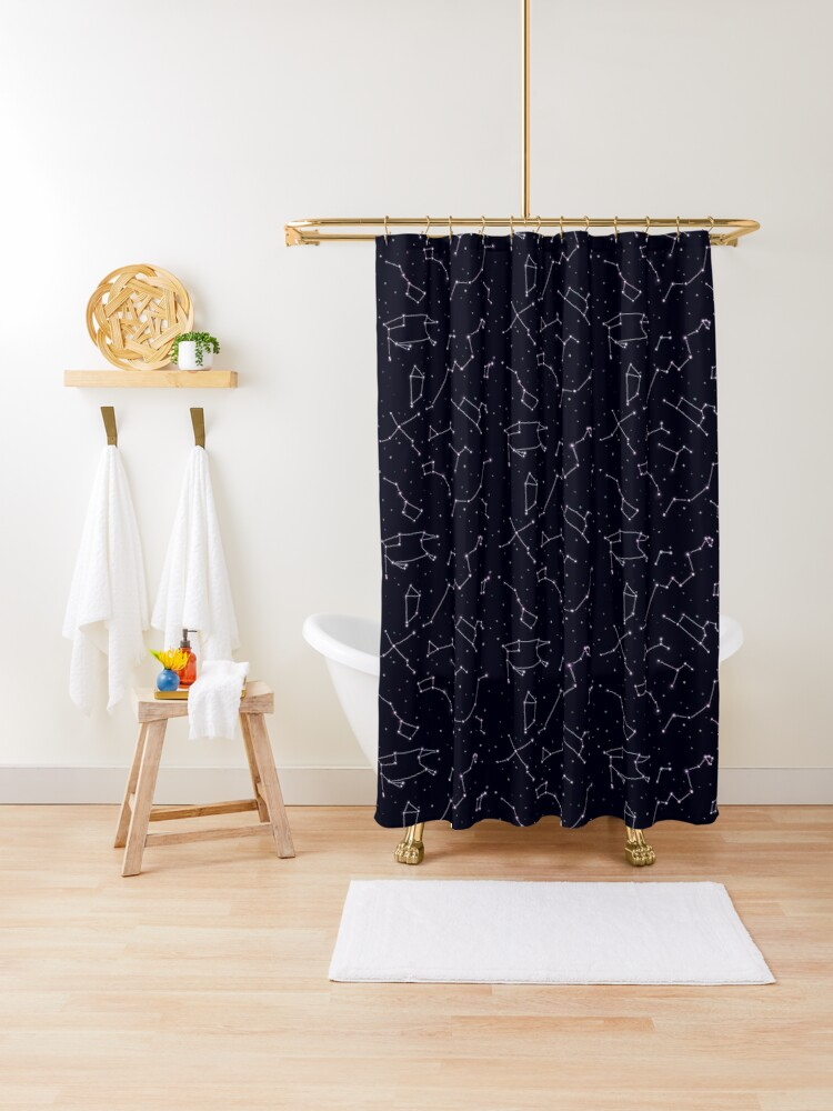 constellations and the night sky shower curtain by jkcaoart redbubble