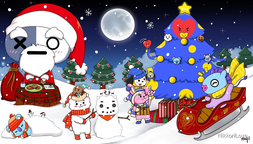 BT21 Christmas By NikkoriLove Redbubble