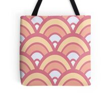 Retro Half Circles Seamless Pattern Tote Bags. Pink color design. Done in vector for a clean look.