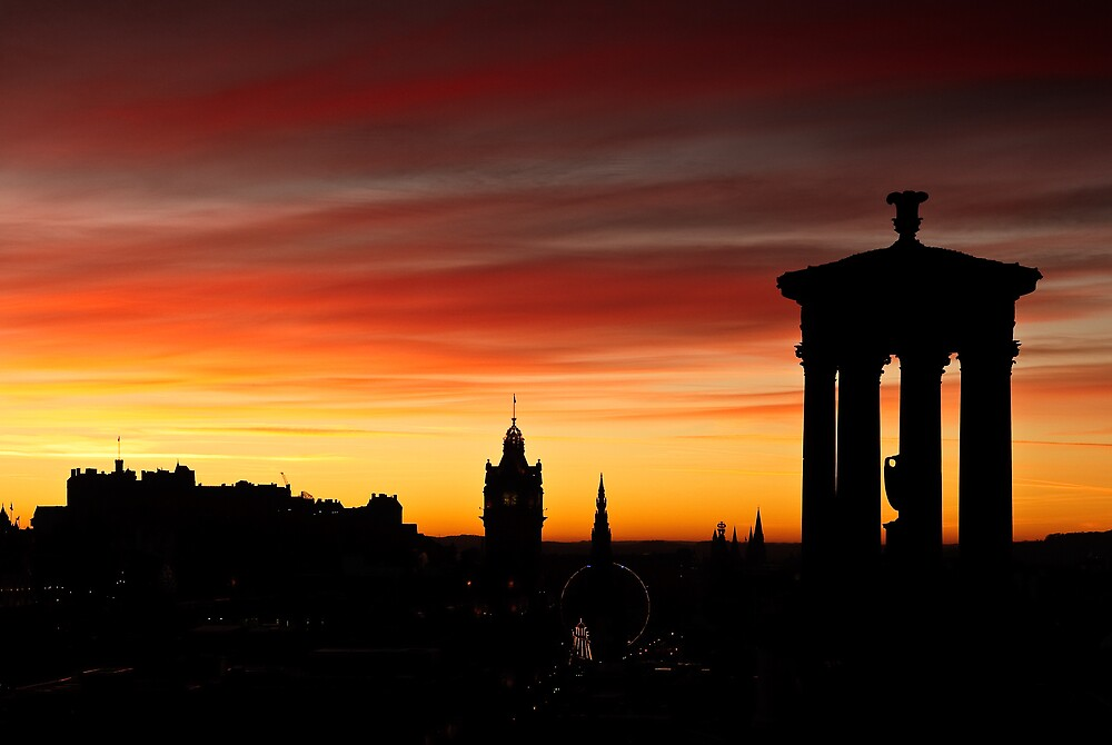 Edinburgh Skyline by David Queenan  Redbubble