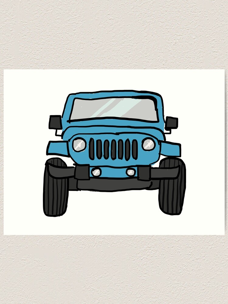 Easy Jeep Drawing : drawing, Drawing