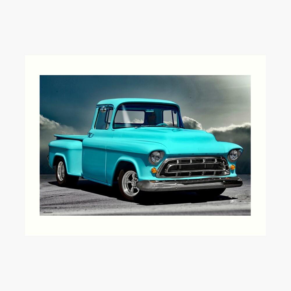 hight resolution of  1957 chevrolet 3100 stepside pickup i art print by davekoontz redbubble