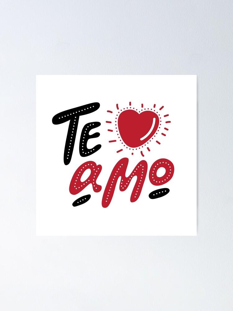 Je T'aime Mon Amour En Italien : t'aime, amour, italien, Poster, Lettrage, Dessiné, Amour, Italien,, Décoratif, Romantique., Affiche, Vecteur, Carte, Saint, Valentin., Svetichch, Redbubble