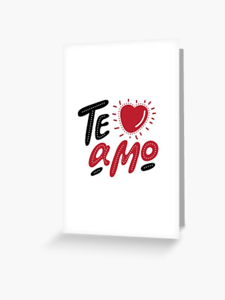 Je T'aime Mon Amour En Italien : t'aime, amour, italien, Carte, Vœux, Lettrage, Dessiné, Amour, Italien,, Décoratif, Romantique., Affiche, Vecteur, Saint, Valentin., Svetichch, Redbubble