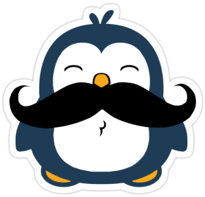 Mustache Penguin by ironydesigns