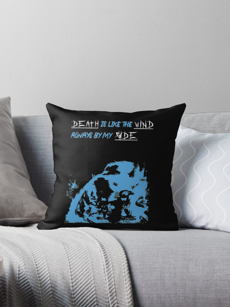 league of legend yasuo smoke death is like the wind always by my side throw pillow by nidead redbubble