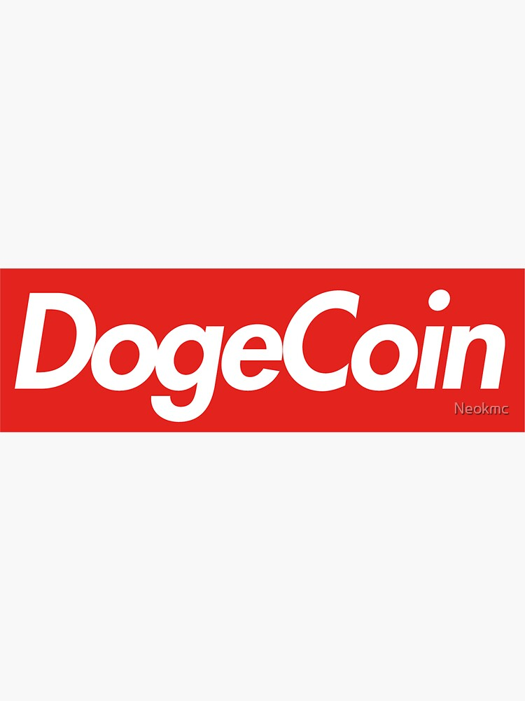 """Doge Coin Box logo "" Sticker by Neokmc 