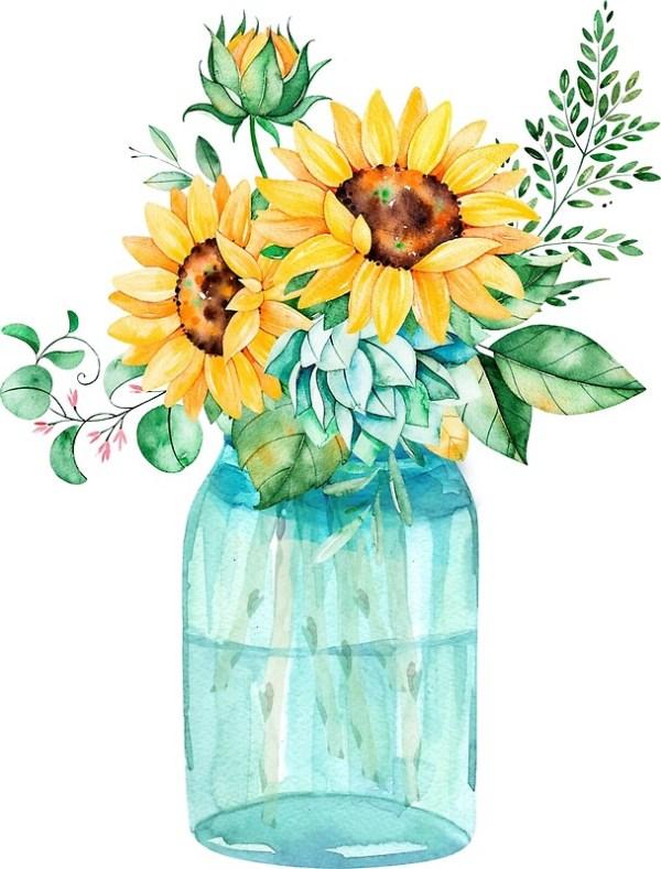 """sunflowers mason jar sunflower"