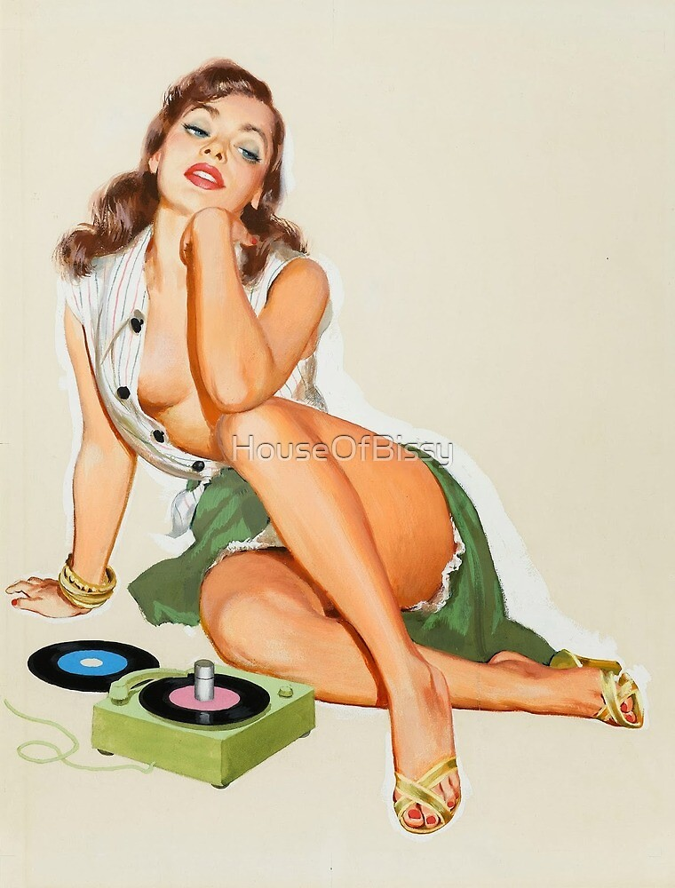 1940 Pinup girl with record player green  Vintage pinup  retro pinup pinup girls ocean