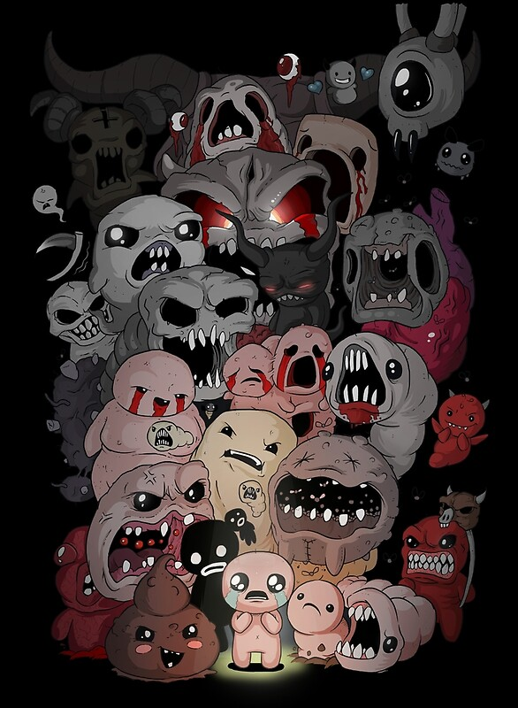 Binding of isaac fan art by Torquem  Redbubble