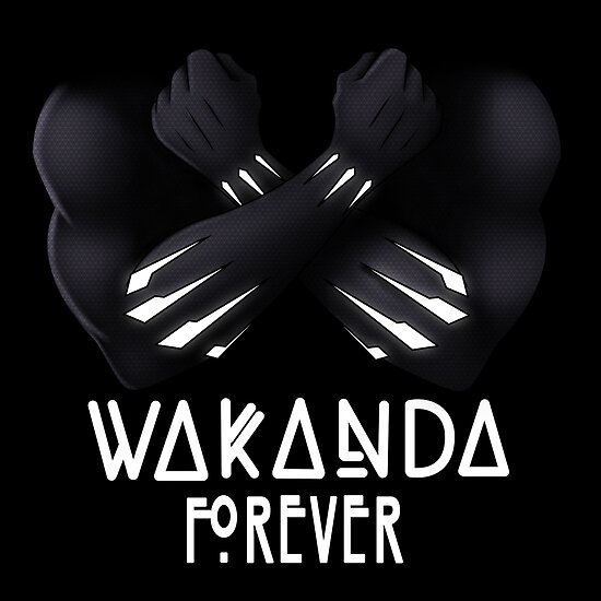 Iphone X Cool Wallpaper Features Quot Wakanda Forever Quot Poster By Mikemincey Redbubble
