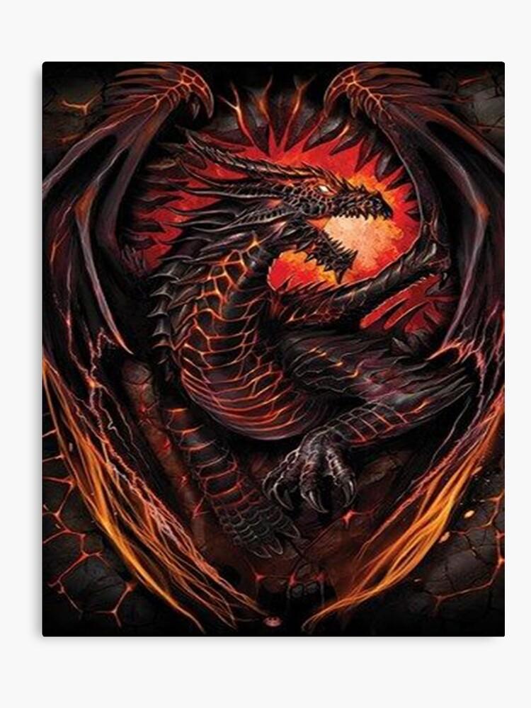 lava dragon canvas print