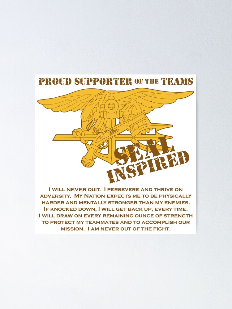 navy seal inspired with creed poster by jcmeyer redbubble
