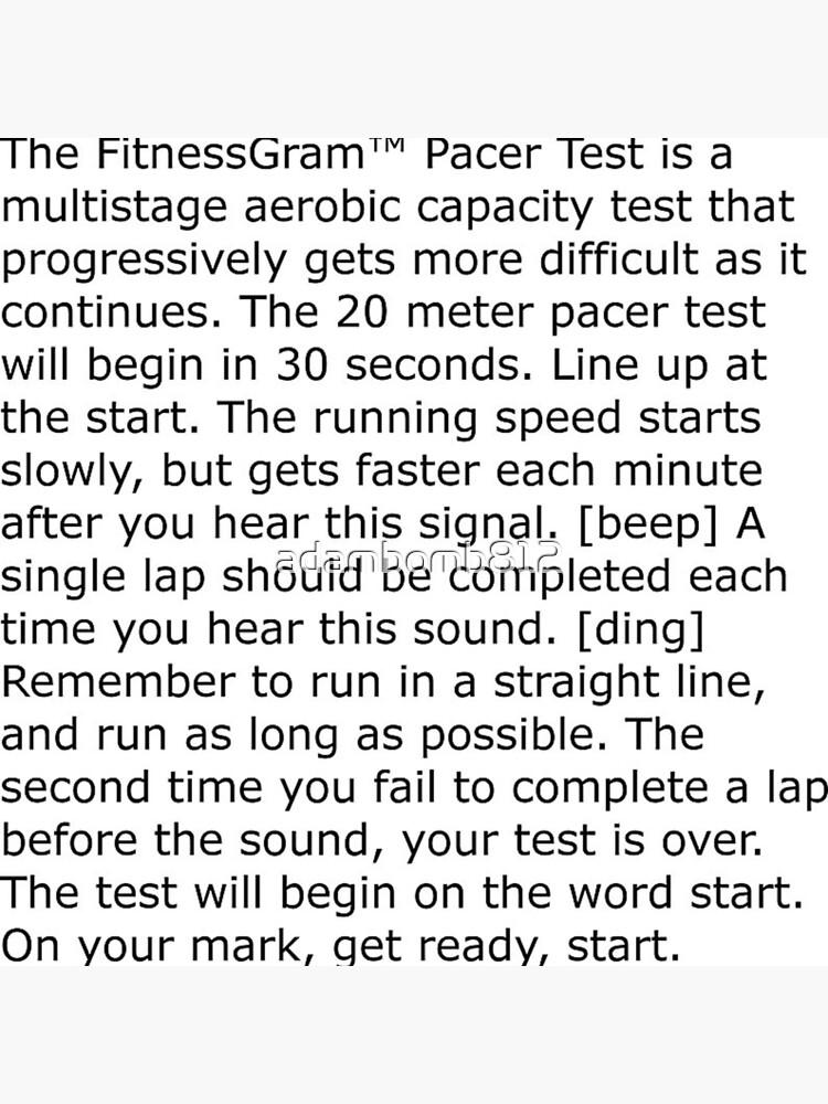The Fitnessgram Pacer Test Lyrics : fitnessgram, pacer, lyrics, Fitnessgram, Pacer, Guide