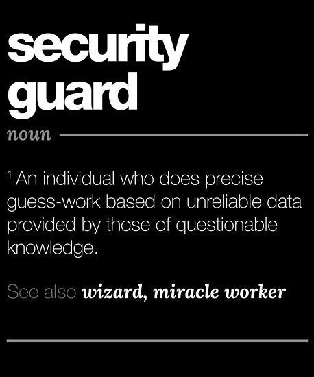 Definition Good Security Guard