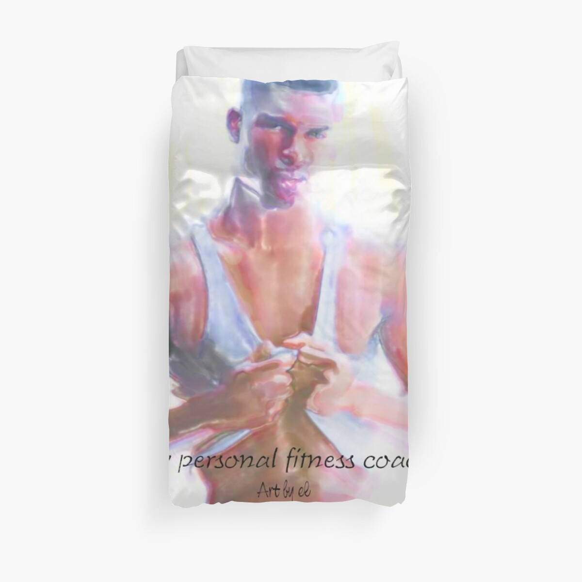my personal fitness coach Duvet Covers by elnino  Redbubble