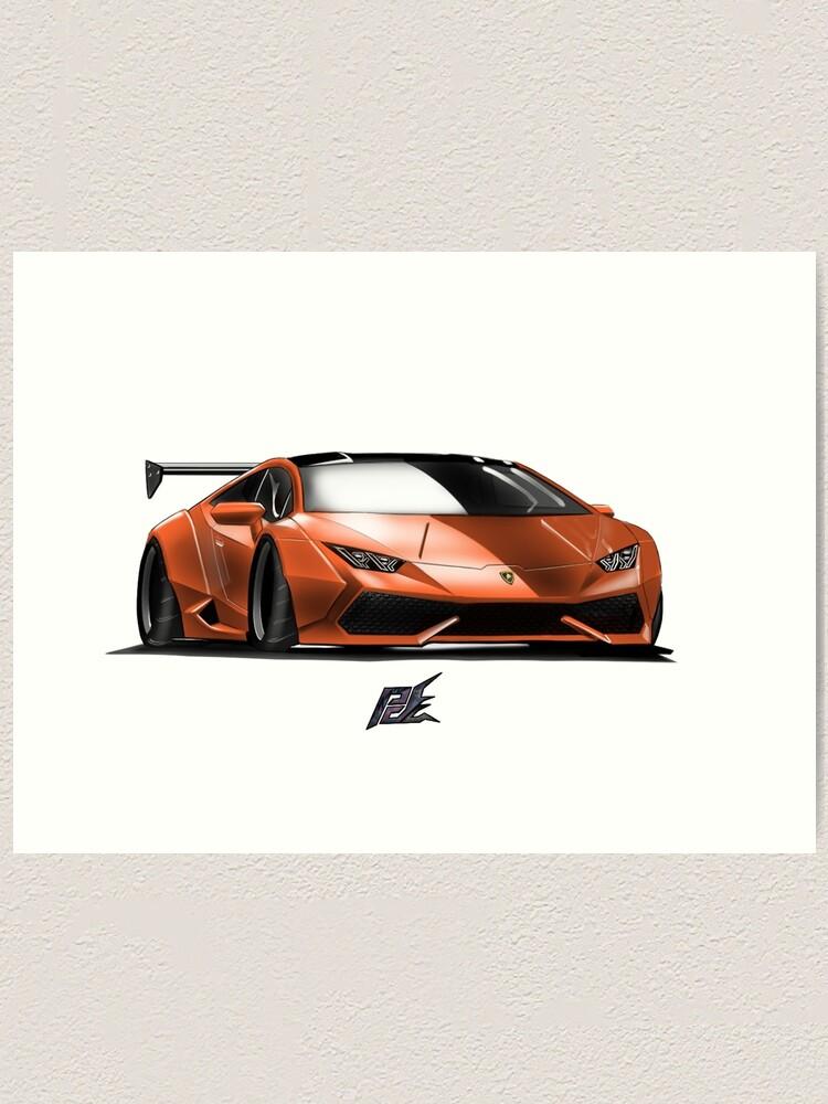 Lamborghini Huracan Orange : lamborghini, huracan, orange, Naquash, Design, Lamborghini, Huracan, Orange, Black, Print, Redbubble