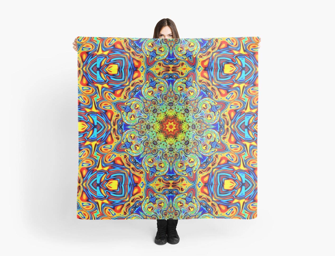 Psychedelic Melting Pot Mandala scarves