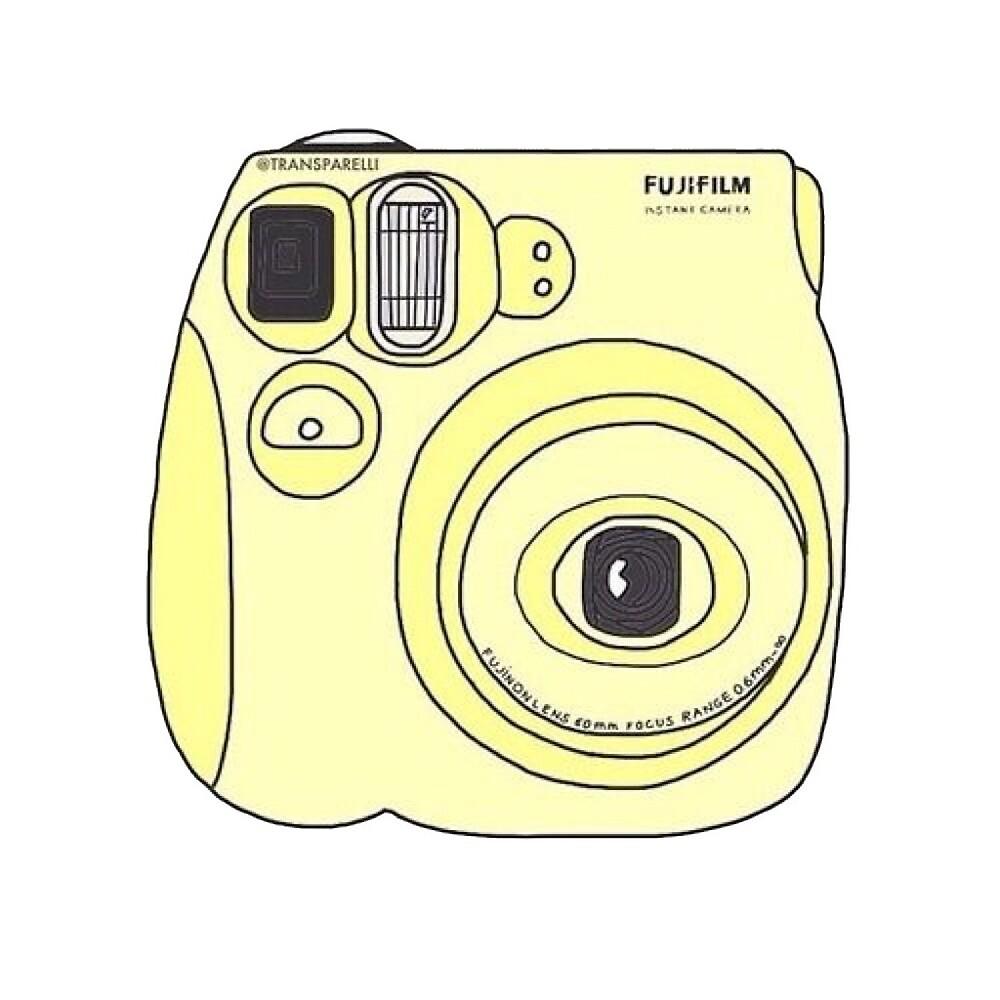 polaroid tumblr aesthetic yellow