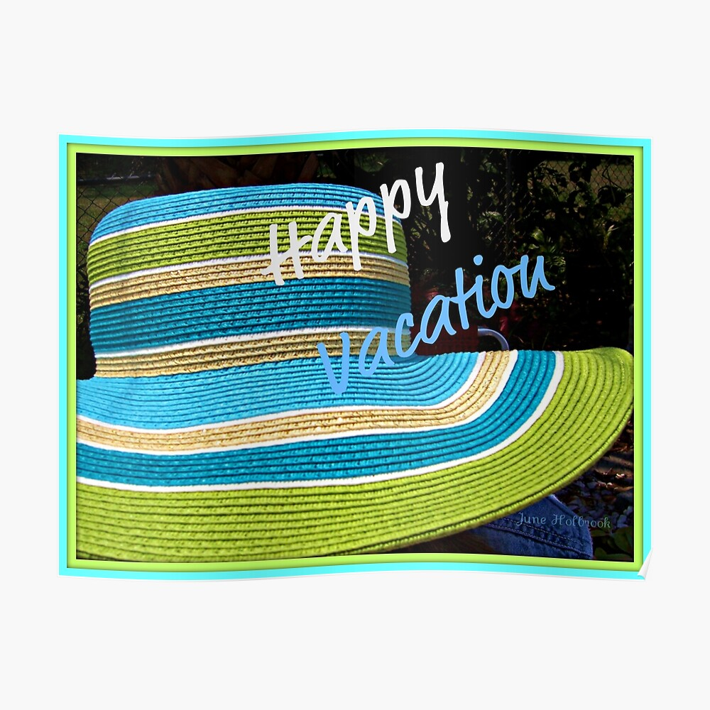 Happy Vacation Postcard By Juneholbrook Redbubble
