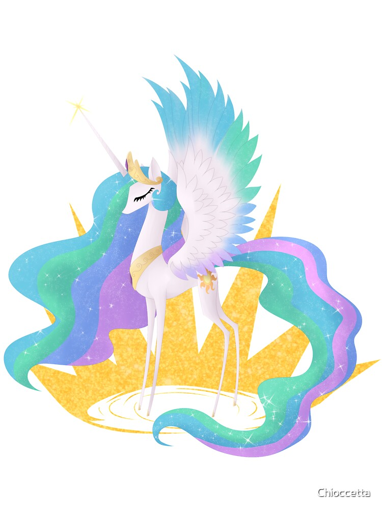 Princess Celestia My Little Pony Friendship Is Magic Baby One Piece By Chioccetta Redbubble