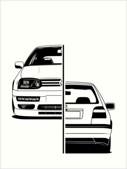 Láminas artísticas «Golf Mk3 GTI Best Shirt Design» de