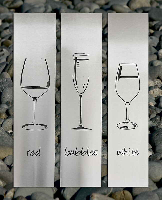 Wine Glasses Stainless Steel Wall Art By LisaSarah By LisaSarah Redbubble