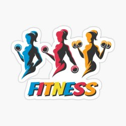 Woman Silhouette Vector Female Fitness Sport Health Gym People Muscle Beauty Power Element Strength Symbol Healthy Bodybuilding Character Strong Bodybuilder Activity Icon Emblem Stickers Redbubble